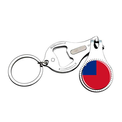 (The Independent State of Samoa National Flag Nail Clipper Bottle Opener Keychain Creative Crystal Stainless Steel Multifunction Souvenirs Gifts)