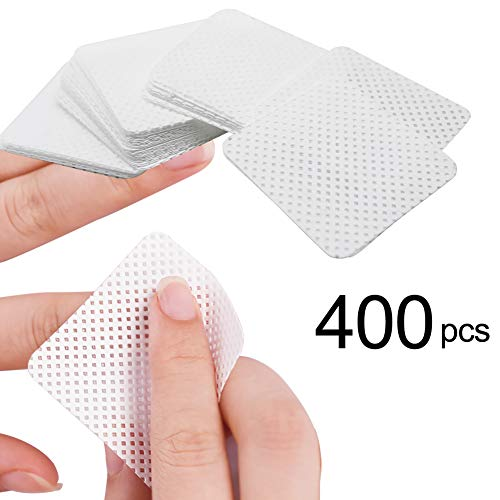400pcs Lint Free Nail Wipes Clean Cotton Pads for Gel Polish Acrylic Nails Removal, 1.96x1.96 Inch, Super Absorbent & Soft (400pcs)