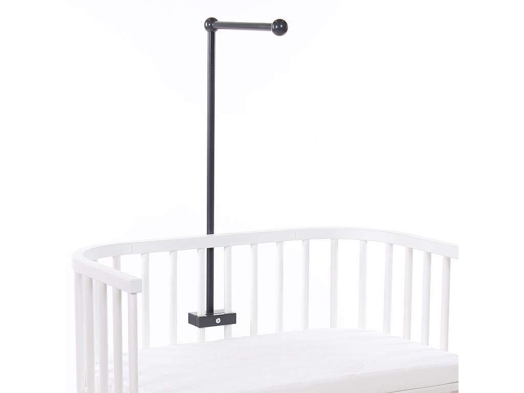 babybay Mobilehalterung passend f/ür alle Modelle mit Rundst/äben dunkelbraun lackiert