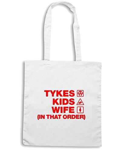 T-Shirtshock - Bolsa para la compra WC1081 tykes-kids-wife-order-tshirt design Blanco