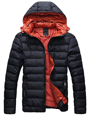 Winter Down Puffer Lightweight security Hooded Men's Coat Packable Jacket Black Outerwear xtqAqY4w