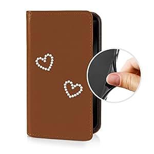 eSPee - Funda de piel sinttica para Nokia Lumia 1020 (contorno de silicona integrado), diseo de pedrera con forma de corazn, color marrn