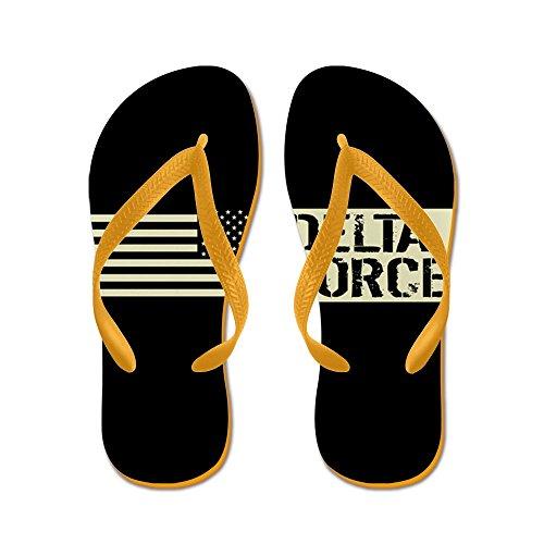Esercito Di Noi: Delta Force (bandiera Nera) - Infradito, Sandali Infradito Divertenti, Sandali Da Spiaggia Arancione