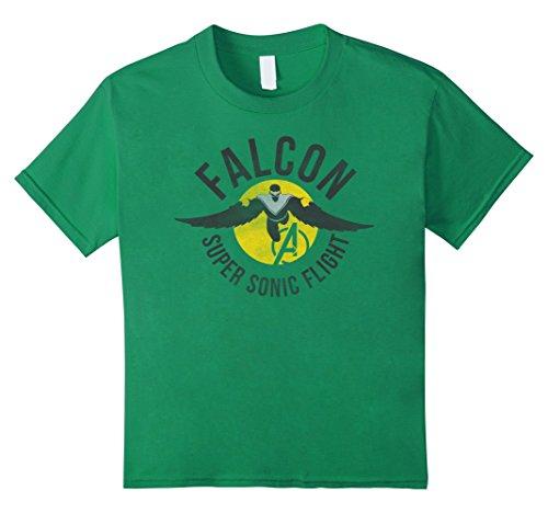 Kids Marvel Assemble Falcon Super Sonic Flight Graphic T-Shirt 10 Kelly Green