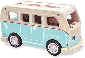 Indigo Jamm Benji Bus h/ölzernes Fahrzeugspielset f/ür Kinder