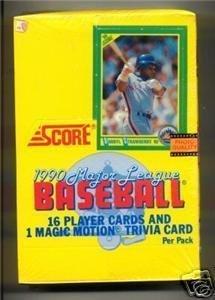 1990 Score Baseball Card Unopened Hobby Box (Sosa, Thomas RC's)