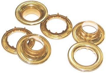 "C.S 3//4/"" Hole Osborne 12 Sets Brass Grommets /& Spur Washers #G2-6"