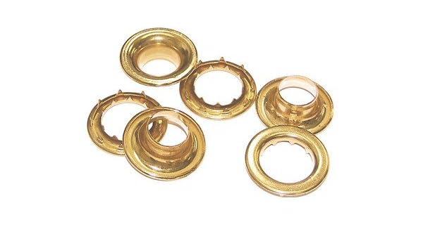 """13//16/"""" Hole 144 Sets Osborne Brass Grommets /& Washers #G1-6 Size 6 C.S"""