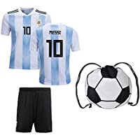 ARGFC 2018 World Cup Argentina Messi Kids #10 Soccer Kit...