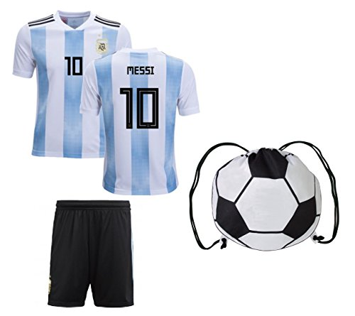 finest selection 3c731 a566d ARGFC Argentina Home Messi Kids #10 Soccer Kit Jersey and - Import It All