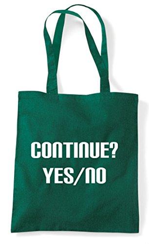 Tote No Continue Game Yes Bag Shopper Option Dark Gaming Green End Statement xgwq0Iq576