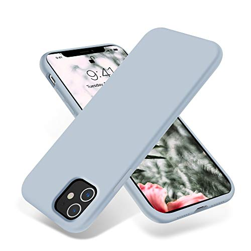 OTOFLY iPhone 11 Case,Ultra Slim Fit iPhone Case Liquid Silicone Gel Cover with Full Body Protection Anti-Scratch Shockproof Case Compatible with iPhone 11 (Baby Blue)