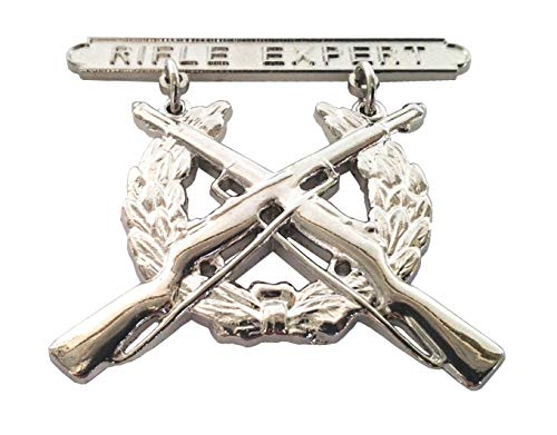 US Marines Rifle Expert Qualification Badge Military Veteran Hat Pin 40089 HO Q
