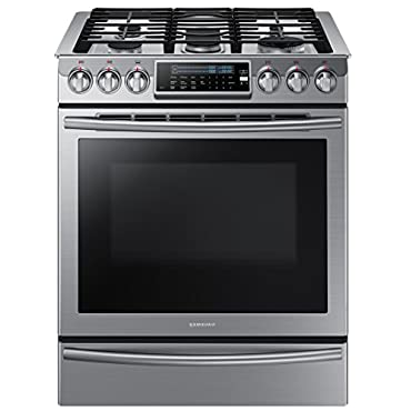 Samsung NX58H9500WS Slide-In Stainless Steel Gas Range with 5 Sealed Burners, 30""