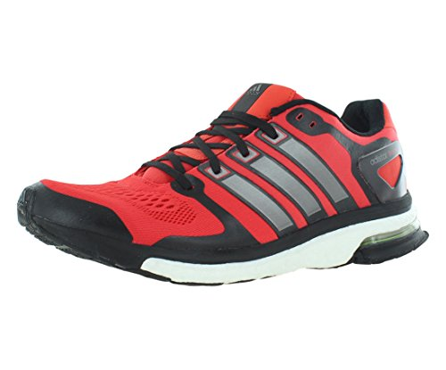 May Boost - adidas Men's B26735 Adistar Boost ESM Shoes, Red/Black/Sliver, 11