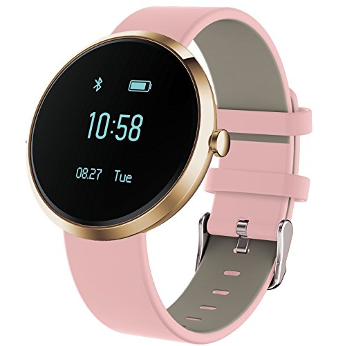 KESSDER H Band Fitness Tracker Watch; Monitors Blood Pressure, Heart Rate, Activity and Sleep, with App for Android and IOS (Gold)