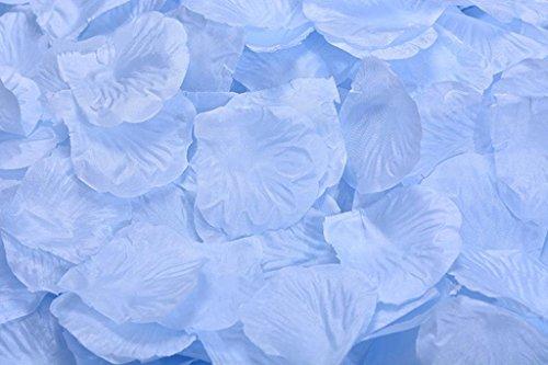 La Tartelette Silk Rose Petals Wedding Flower Decoration (100 Pcs, Light Blue)