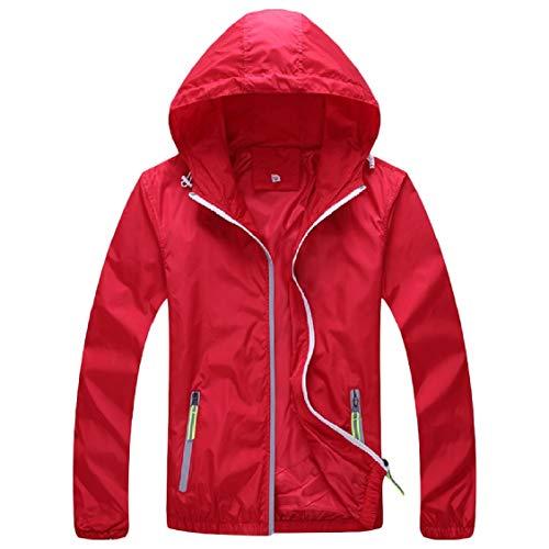 Giacca Sovradimensionato Delle Rossa Outwear Svago Cappuccio Con Di Energia Tasca Donne Cerniera Esterna xvxf0O8q