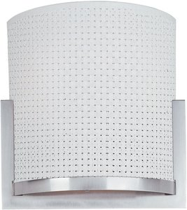 ET2 E95188-100SN Elements 2-Light Wall Sconce, Satin Nickel Finish, Glass, GU24 Fluorescent Bulb, 20W Max., Dry Safety Rated, 2900K Color Temp., Electronic Low Voltage (ELV) Dimmable, Glass Shade Material, 320 Rated Lumens
