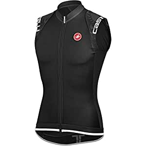 Castelli Entrata Full-Zip Jersey - Sleeveless - Men's Black, S