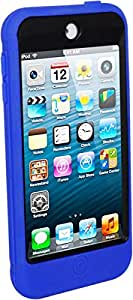 For iPod Touch 6 - Coverking 3-in-1 Anti-Shock Silicone Hard Case Built-In Screen Protector - Blue