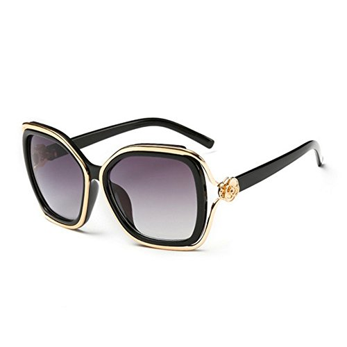 HaiBote Ms Sunglasses Retro Fashion Tide Colorful Mirror - For Shape Best Face Oblong Eyeglass