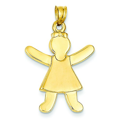 14k Girl Charm by Shop4Silver
