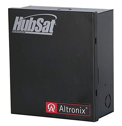 - Altronix Steel Passive UTP Transceiver Hub with Black Finish - HubSat4Di