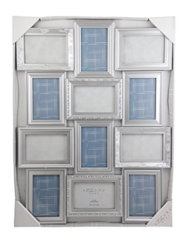 Azzure Home Decorative Wall Hanging Collage Picture Frame - Silver