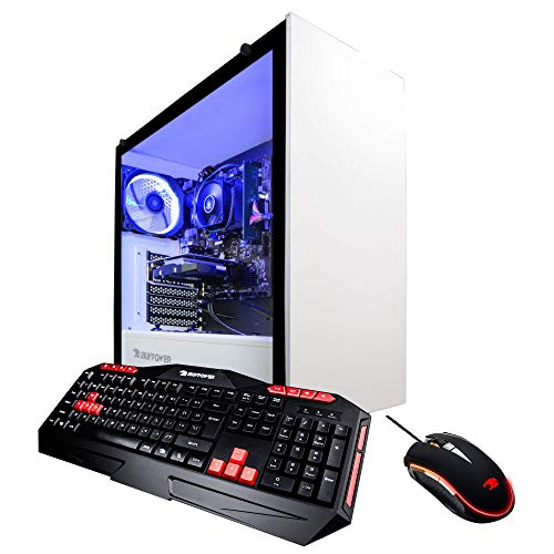 iBUYPOWER Enthusiast Gaming PC Computer Desktop AMD Ryzen 3 1200 3.1GHz, NVIDIA Geforce GTX 1050 Ti 4GB, 8GB DDR4-2666 RAM, 240GB SSD, WiFi, Win 10 Home, WiFi Ready (ARC 060A)