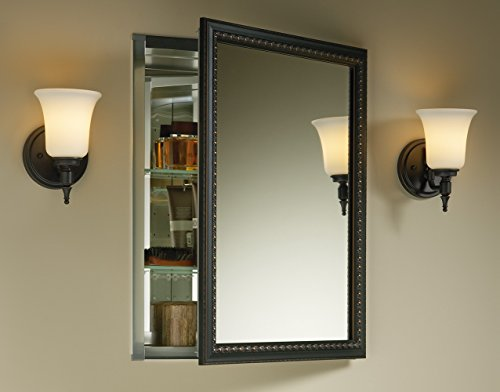 Kohler K-2967-BR1 Aluminum Cabinet with Oil-Rubbed Bronze Framed Mirror Door, Oil-Rubbed Bronze