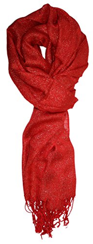 Ted and Jack - Hollywood Dreams Sparkling Metallic Scarf (Red with Gold - Fleck Gold