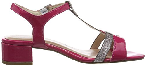 Tamaris 28220, Sandalias con Tira a T para Mujer Rosa (Fuxia/lavender 509)