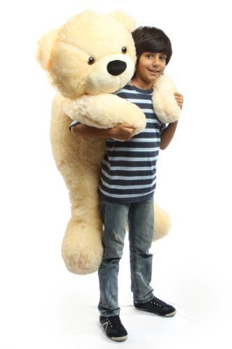 Cozy-Cuddles-47-Irresistibly-Cute-Extra-Soft-Vanilla-Cream-Big-Plush-Teddy-Bear-By-Giant-Teddy