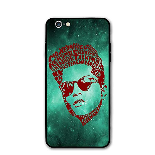 iPhone 6S Case Bruno-Mars-Face-Logo Liquid Silicone Rubber Shockproof Cover with Soft Microfiber Cloth Cushion Compatible for iPhone 6 / iPhone 6S -