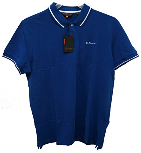 ben-sherman-mens-contrast-tipped-pique-polo-shirt-x-large-skydiver