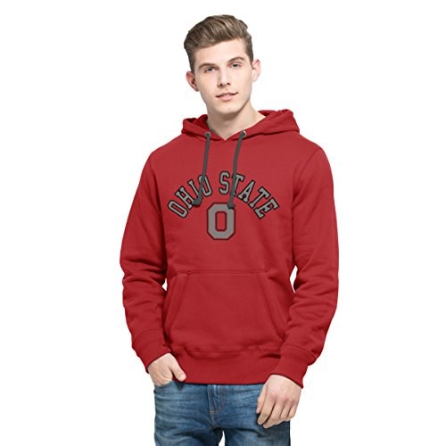 NCAA Ohio State Buckeyes Men's 47 Cross Check Printed Hoodie, Large, Rescue Red