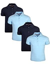 French Toast Girl's Uniform Polo Short Sleeve Interlock (4 Pack)