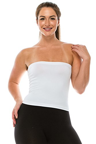 ee7ba169b7261 Kurve Medium Length Bandeau Bra Top - Made in USA- (One Size ...