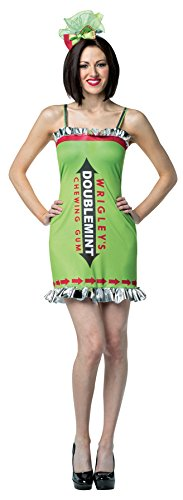 Rasta Imposta Women's Wrigley's Doublemint Chewing Gum Outfit Funny Theme Party Costume, OS (6-10)]()