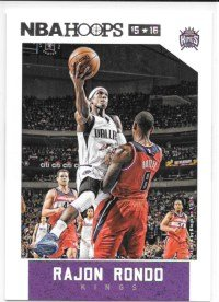 (Rajon Rondo 2015-16 NBA Hoops Sacramento Kings Card #18)