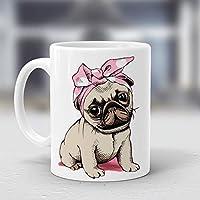 Taza Perro Pug Colores Regalos #011