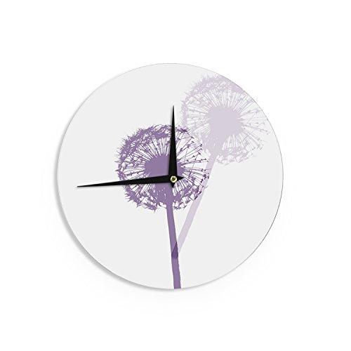 Kess InHouse Monika Strigel Dandelion Purple Flower Wall Clo