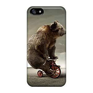 New Design Shatterproof Phs2105iLMR Case For Iphone 5/5s (circus Bear On Tricycle)