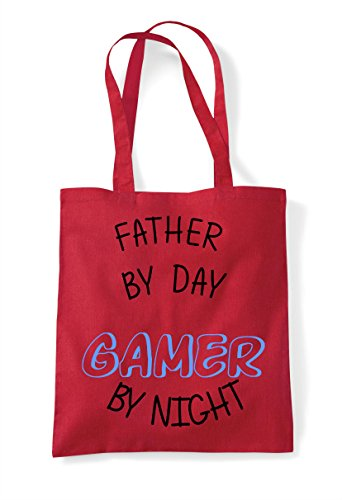 Shopper Bag Red Personalised Gamer Day Statement By Father Gaming Tote Night wBaO8zqq