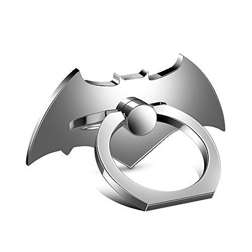 Lamyik Mobile Phone Ring Holder Stand , Batman Metal Universal 360° Rotation , Adjustable Finger Spinner Mount for Hand , Anti-Drop Grip for iPhone 8 7 6s Plus Smartphone , Tablet ,Silver - Spinner Mobile
