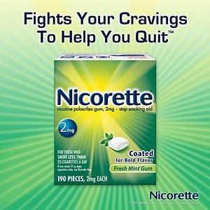 Nicorette Fresh Mint 2mg Coated Gum Nicotine Polacrilex Gum - 190