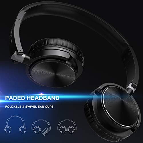 Vogek Headphones with Microphone, Foldable On Ear Headset Wired with Deep Bass, Adjustable Headband and Noise Isolation…