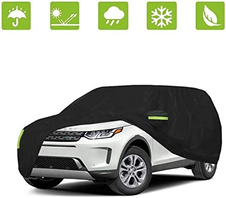 SUV automobile Cover Waterproof Car Cover All Weather Snowproof UV Protection Windproof Outdoor Full automobile Cover Scratch Resistant with Reflective Strips( SUV )