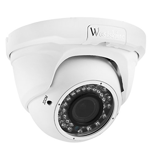 Westshine 4MP Security AHD Camera 2.8mm-12mm Varifocal Lens Dome Camera TVI/CVI/AHD/CVBS IR-Cut 36 IR LEDs 100ft Night Vision Indoor Outdoor Camera with OSD Menu (Varifocal 4MP)